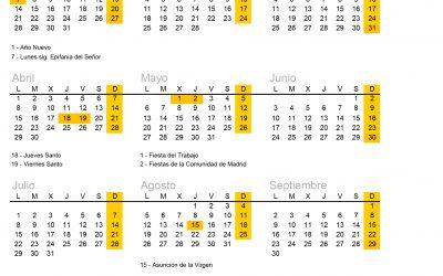 Calendario Laboral 2019 – RC ELEVEN